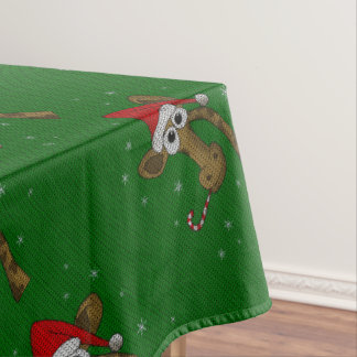 Christmas Giraffe Tablecloth