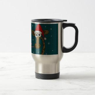 Christmas Giraffe Travel Mug