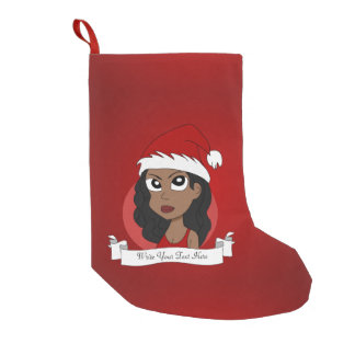 Christmas girl cartoon small christmas stocking