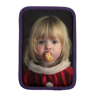 Christmas girl - christmas child - cute girl iPad mini sleeve