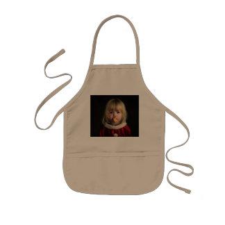 Christmas girl - christmas child - cute girl kids apron