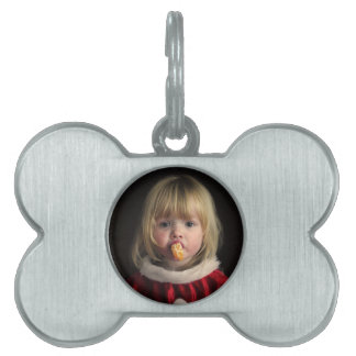 Christmas girl - christmas child - cute girl pet tag