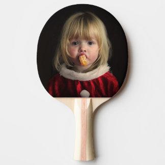 Christmas girl - christmas child - cute girl ping pong paddle