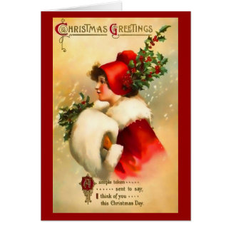 Christmas Girl Greeting  Card