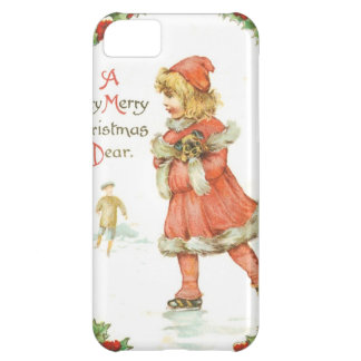 Christmas Girl Ice Skating Case For iPhone 5C