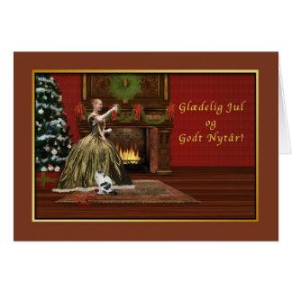 Christmas, Glædelig Jul, Danish, Old Fashioned Card