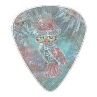 Christmas Glamour Fashion Santa Owl Pearl Celluloid Guitar Pick