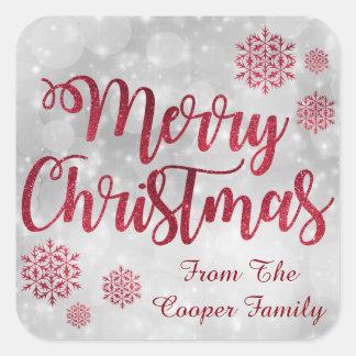 Christmas Glitter Personalized Sticker