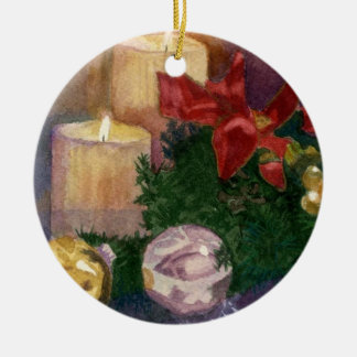 Christmas Glow Ceramic Ornament