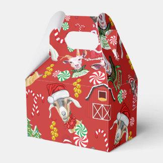 Christmas GOATS Candy and Jingle Bells GetYerGoat™ Favor Box