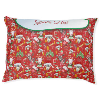 Christmas GOATS Candy and Jingle Bells GetYerGoat™ Pet Bed