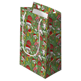 Christmas GOATS Candy and Jingle Bells GetYerGoat™ Small Gift Bag