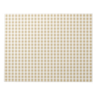 Christmas Gold Gingham Check Pattern Notepad