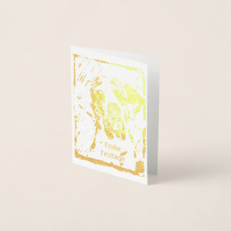 Christmas Gold Great Dane Cards