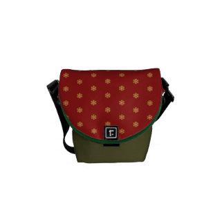 Christmas gold snowflake pattern, customizable BG Courier Bag