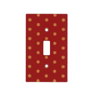Christmas gold snowflake pattern, customizable BG Light Switch Cover