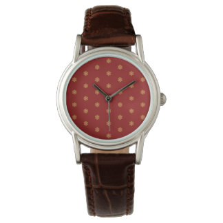 Christmas gold snowflake pattern, customizable BG Watch