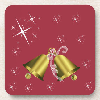 Christmas Golden Bell and Stars Coaster