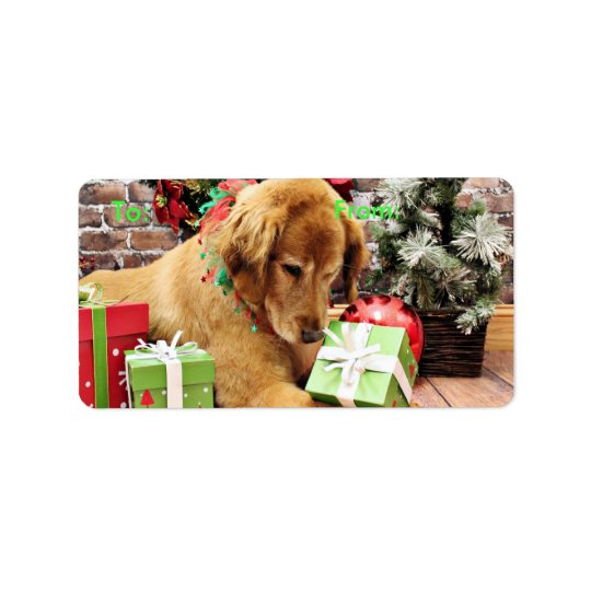 Christmas - Golden Retriever - Addison Label