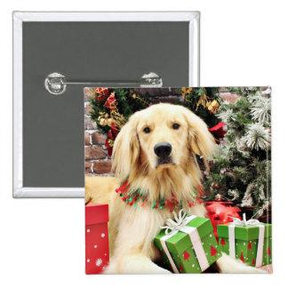 Christmas - Golden Retriever - Ozzy Buttons