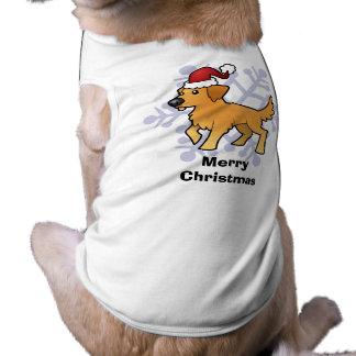 Christmas Golden Retriever Pet T Shirt