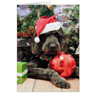 Christmas - GoldenDoodle - Buddy Card