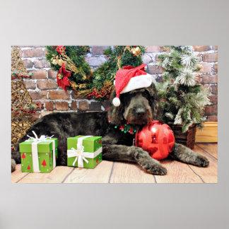 Christmas - GoldenDoodle - Buddy Print