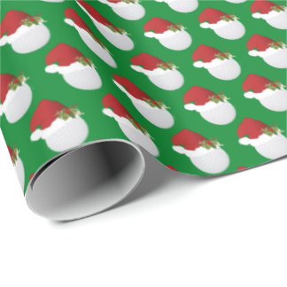 Christmas Golf  Balls Wrapping Paper