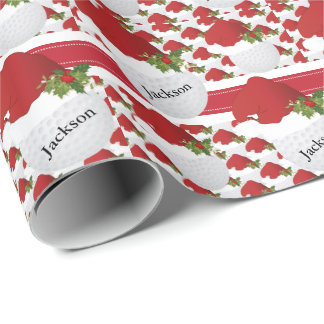 Christmas Golf | DIY Text Wrapping Paper