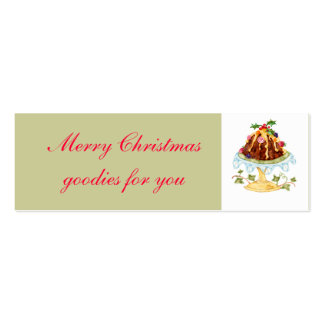 Christmas goodies gift tag Double-Sided mini business cards (Pack of 20)