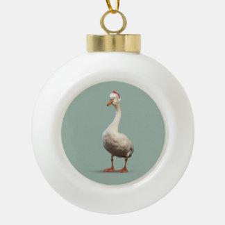 Christmas Goose Ball Ornament