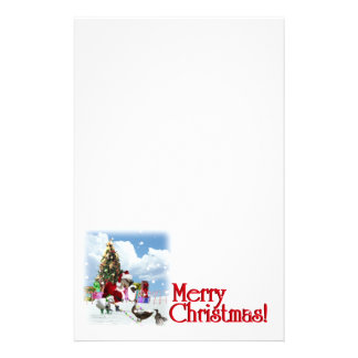 Christmas Goose Holiday Writing Stationery