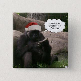 Christmas Gorilla Button