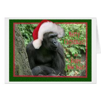 Christmas Gorilla Card