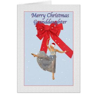 Christmas, Granddaughter, Ballerina Card