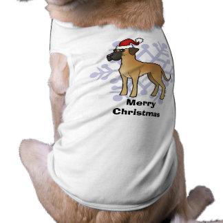Christmas Great Dane Dog T-shirt