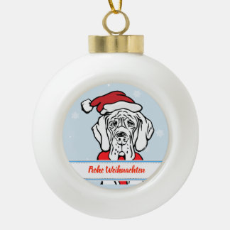 Christmas Great Dane Guy Ceramic Ball Christmas Ornament
