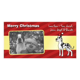 Christmas Great Dane Photo Card Template