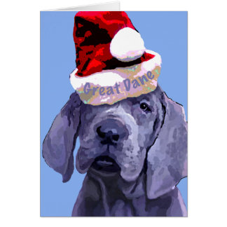 Christmas Great Dane Puppy card