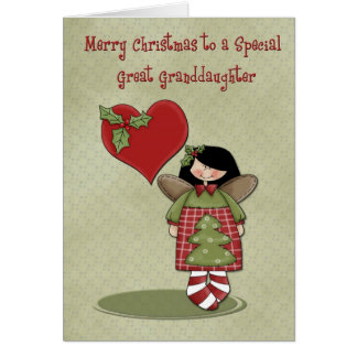Christmas Great Granddaughter Card