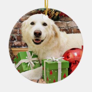 Christmas - Great Pyrenees Labrador X - Ginny Ceramic Ornament
