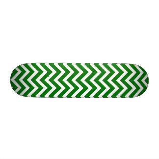 Christmas Green and White Chevron ZigZag Custom Skateboard