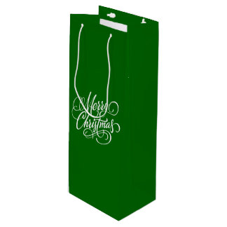 Christmas Green Bottle Gift Bag