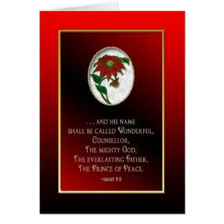 CHRISTMAS GREETING CARD - CHRISTIAN - POINSETTIA