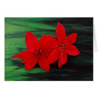 Christmas Greeting Card - Christmas Flowers