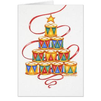 Christmas Greeting Card  Christmas Tree Of Drums