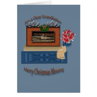 Christmas greeting card for Grandfather