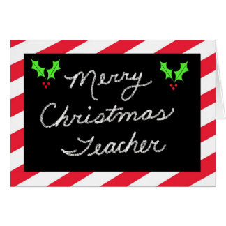 Christmas Greeting Card for Teacher -- Blackboard