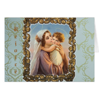 "Christmas Greeting Card ""Madonna And Child """