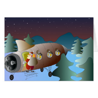 Christmas Greeting Card Moonrocket